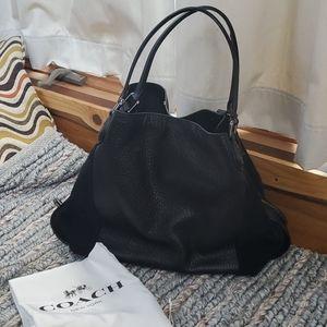 Coach large hobo leather bag purse new